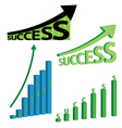 success graphs vector image vector image