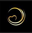 swirl shape valentine logo vector image vector image