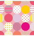 tile pattern with polka dots on pastel background vector image vector image