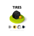 Tires icon in different style vector image vector image