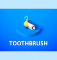 toothbrush isometric icon isolated on color vector image