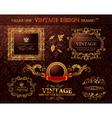 vintage gold frames ornament set vector element de vector image