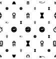 watch icons pattern seamless white background vector image vector image