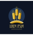 wheat bread logo design template farm or vector image vector image