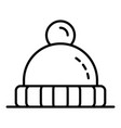 winter beanie icon outline style vector image