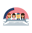 worker celebrating happy labor day vector image vector image