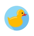Yellow duck vector image