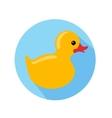 yellow duck vector image