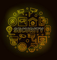 yellow security round or vector image vector image
