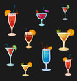 background with cocktails vector image