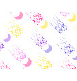 background with a flat geometric design with dots vector image