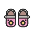 Baby Girls Shoes vector image