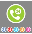 call support center icon flat web sign symbol logo vector image