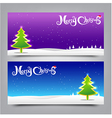 040 Merry Christmas banner background Collection vector image vector image