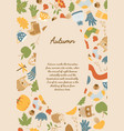 abstract autumn design background vector image
