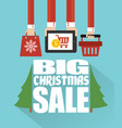 big christmas sale concept modern flat design vector image vector image