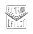 Boomerang effect vector image