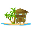 Bungalow on the island vector image vector image