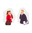 business conversation on phone vector image