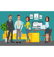 Business professional work team Shared working vector image vector image