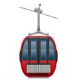 cabin ski cableway vector image vector image