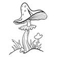 cartoon image of mushrooms vector image vector image