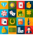 Casino Flat Icons vector image vector image
