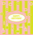 colorful greeting happy birthday vector image