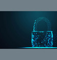 cyber lock security padlock abstract wire low vector image