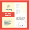 documents company brochure title page design vector image vector image