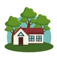 exterior house facade icon vector image vector image