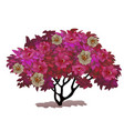 fancy a bush covered with flowers fantasy nature vector image vector image