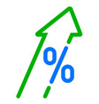 gdp high growth green arrow and percent icon gdp vector image vector image