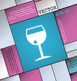 glass of wine icon sign Modern flat style for your vector image