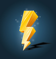 Golden forked lightning icon with sparkles vector image vector image