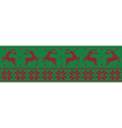 green and red christmas jumper vector image vector image