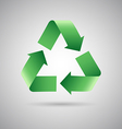 Green recycle symbol icon vector image