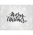 handdrawn lettering merry christmas design vector image