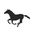 Horse silhouette vector image