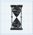 Hourglass with pen effect vector image vector image