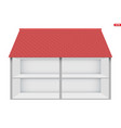house in cut vector image