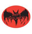 icon happy halloween bat devil ghost art face vector image