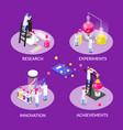 isometric chemistry design concept vector image vector image