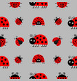 ladybug ladybird icon set baby collection funny vector image