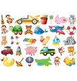 large set childrens toys vector image vector image
