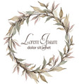 leaves delicate wreath watercolor wedding vector image vector image
