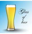 Light beer Transparent glass vector image