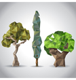 lowpoly trees vector image vector image