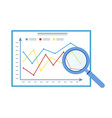 magnifying glass on analytic diagrams search vector image