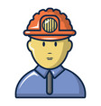 male miner icon cartoon style vector image vector image